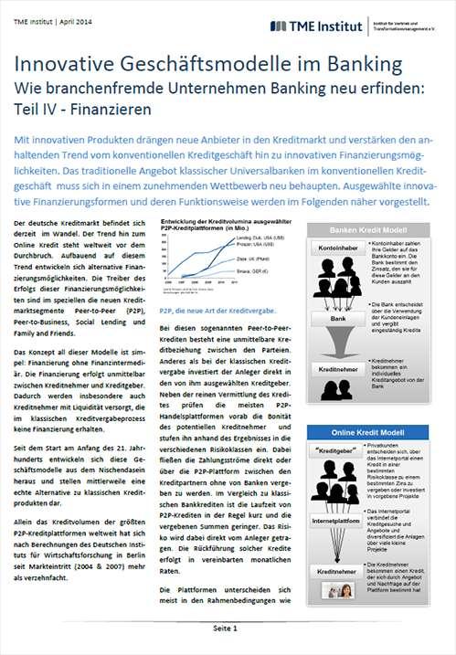 TME Whitepaper_Innovative Geschäftsmodelle im Banking - Finanzieren